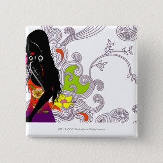 Sidan profilerar av posera för kvinna standard kanpp fyrkantig 5.1 cm