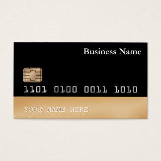 Sidsvart guld för kreditkortstilVISITKORT 2 Visitkort