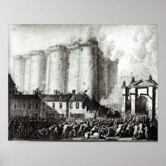 Siege av bastillen, 14th Juli 1789 Poster