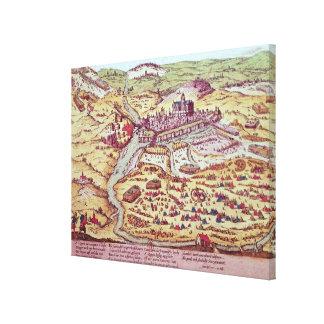 Siegen av St. Quentin, 27th Juli 1557 Canvastryck