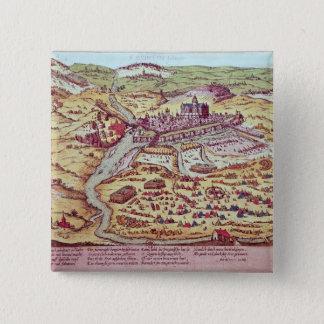 Siegen av St. Quentin, 27th Juli 1557 Standard Kanpp Fyrkantig 5.1 Cm