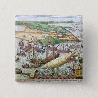 Siegen av Tunis eller La Goulette av Charles V Standard Kanpp Fyrkantig 5.1 Cm