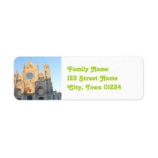 Siena italien returadress etikett