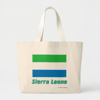 Sierra Leone flagga med namn Kasse