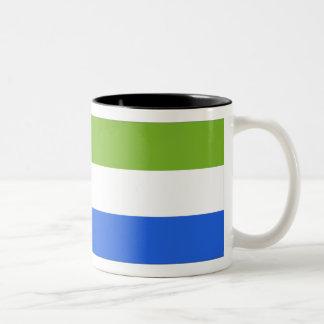 Sierra Leone flagga Två-Tonad Mugg
