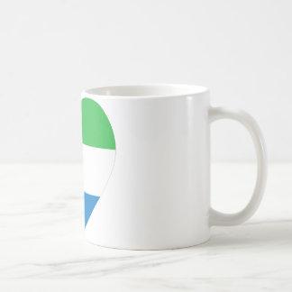 Sierra Leone flaggahjärta Kaffemugg