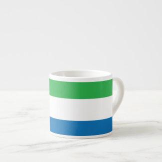 Sierra Leone slättflagga Espressomugg