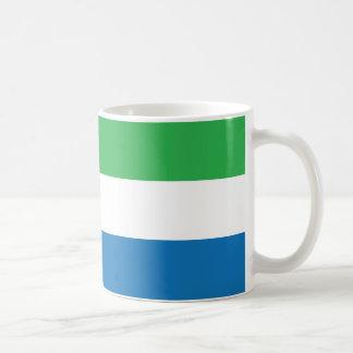 Sierra Leone slättflagga Kaffemugg