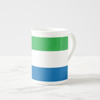 Sierra Leone slättflagga Tekopp