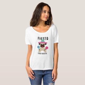 Siesta Cinco De Mayo för mopsFiesta därefter Tee Shirt