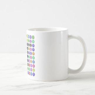 Siffror av Pi-muggen Kaffemugg
