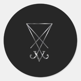 Sigil av det Lucifer- A symbolet av satanism Runt Klistermärke