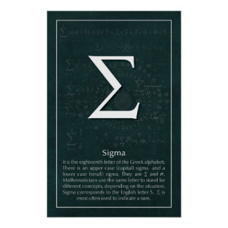 Sigma Poster