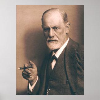 Sigmund Freud med cigarraffischen Poster