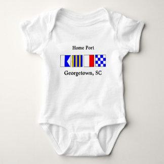 Signalera flaggaport av den Georgetown babyen Tröja