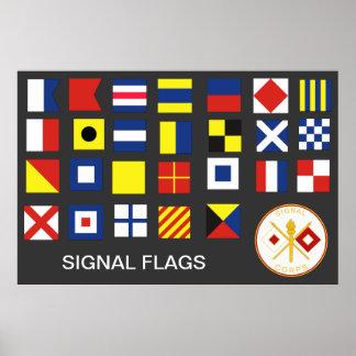 Signalera kårflaggor (AEN-Z) Print