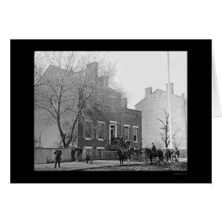 Signalera kårhögkvarter i Washington, DC 1865 Hälsnings Kort