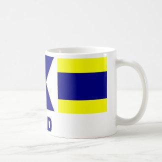 Signalera kistamuggen för flagga (pappa) kaffe kopp