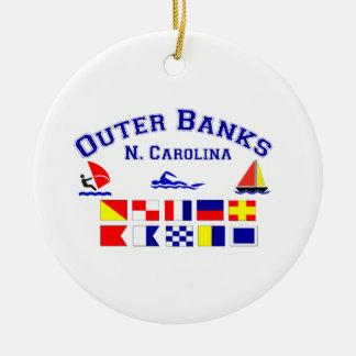 Signalerar den yttre banker för NC flaggor Julgransprydnad Keramik