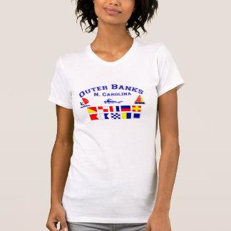 Signalerar den yttre banker för NC flaggor T-shirt