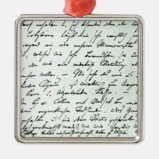 Signeraa brev från Franz Schubert Julgransprydnad Metall