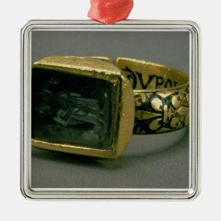 Signet ring av kungen Louis IX av frankriken (St Julgransprydnad Metall