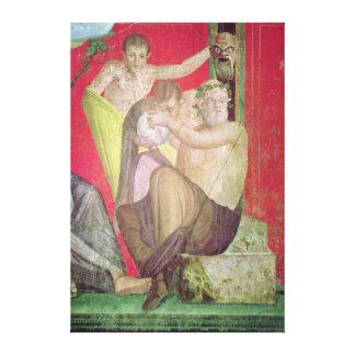 Silenus och den unga satyren, östlig vägg canvastryck