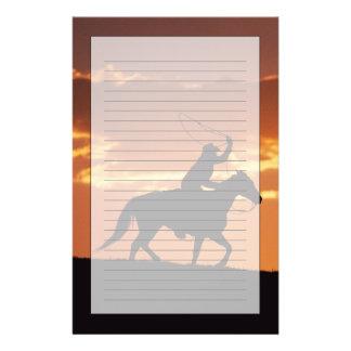 Silhouette av cowboyen på hästrygg nära Fairplay, Brevpapper
