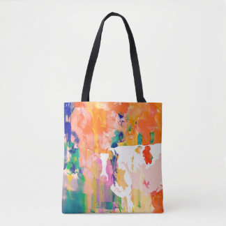 Silhouette för abstraktionkovattenfärg tygkasse
