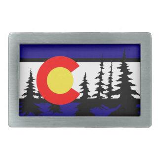 Silhouette för Colorado flaggaträd