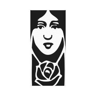 Silhouette för dam Goth för gotisk art nouveau Canvastryck