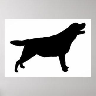 Silhouette för Labrador Retriver jakthund Poster