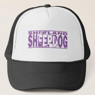 Silhouette för Shetland Sheepdog Truckerkeps