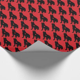 Silhouette för Terrier för amerikangroptjur Presentpapper