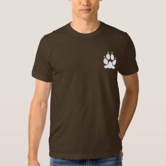Silhouette för tryck för vitvargtass tshirts
