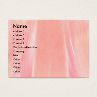 Silkeslen rosa Petal Visitkort