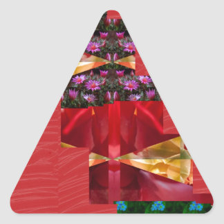 SILKESLENT rött tyg blommar LOWPRICE n-diagramKONS Triangle Stickers