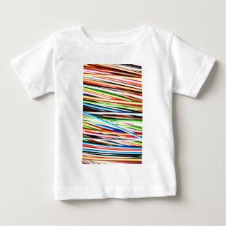 Silkeslent vinkart sken Digital ljusa rosa rostiga T-shirt