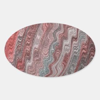 silkiy vinkar ovalt klistermärke