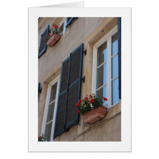 Sill Notecard för franskt fönster OBS Kort