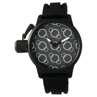 Silver cirklar klockan armbandsur