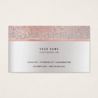 Silver för flyttning för grått för pärla för rosa visitkort