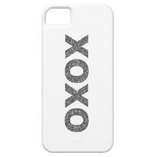 Silver för glitter XOXO iPhone 5 Case-Mate Skydd