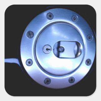 Silver för motorcykelmotorcykelsvarten tankar fyrkantigt klistermärke