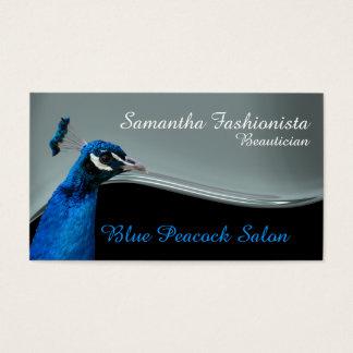 Silver för påfågelsalongbeautician visitkort
