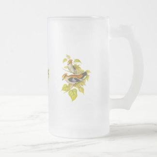 Silver-gick mot Broadbill Frostad Glas Mugg