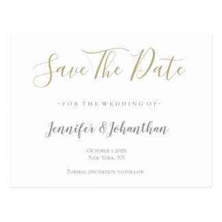 Silver- & guldbröllop spara datumkort vykort