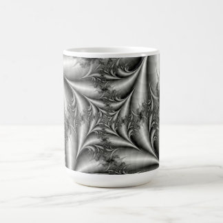 Silver kvadrerar den spiral muggen kaffemugg
