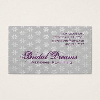 Silver- & lila blommoranpassadevisitkort visitkort