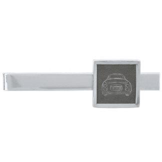 Silver Nissan Figaro med den svart Silverpläterad Slipsnål